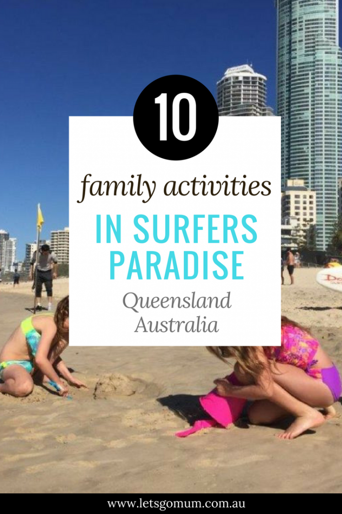 Surfers Paradise ten best family holiday activities, Australia