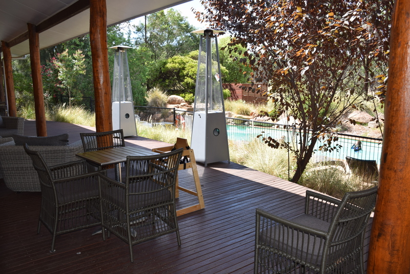 The Zoofari Lodge Guest House veranda is a great place to relax