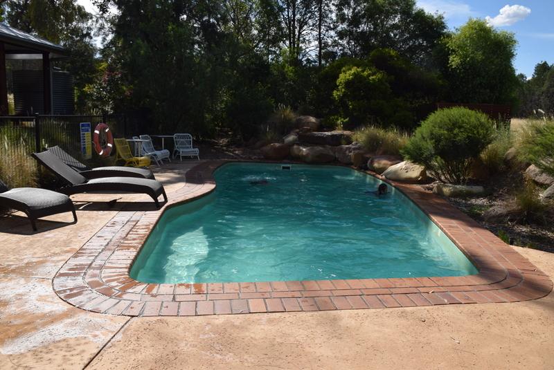 The beautiful Zoofari Lodge swimming pool