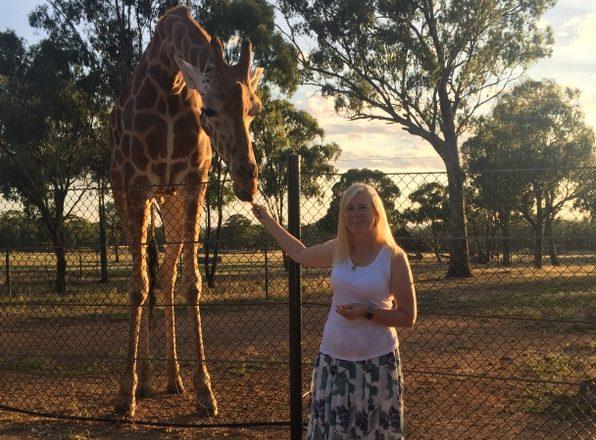 I loved feeding the giraffes!