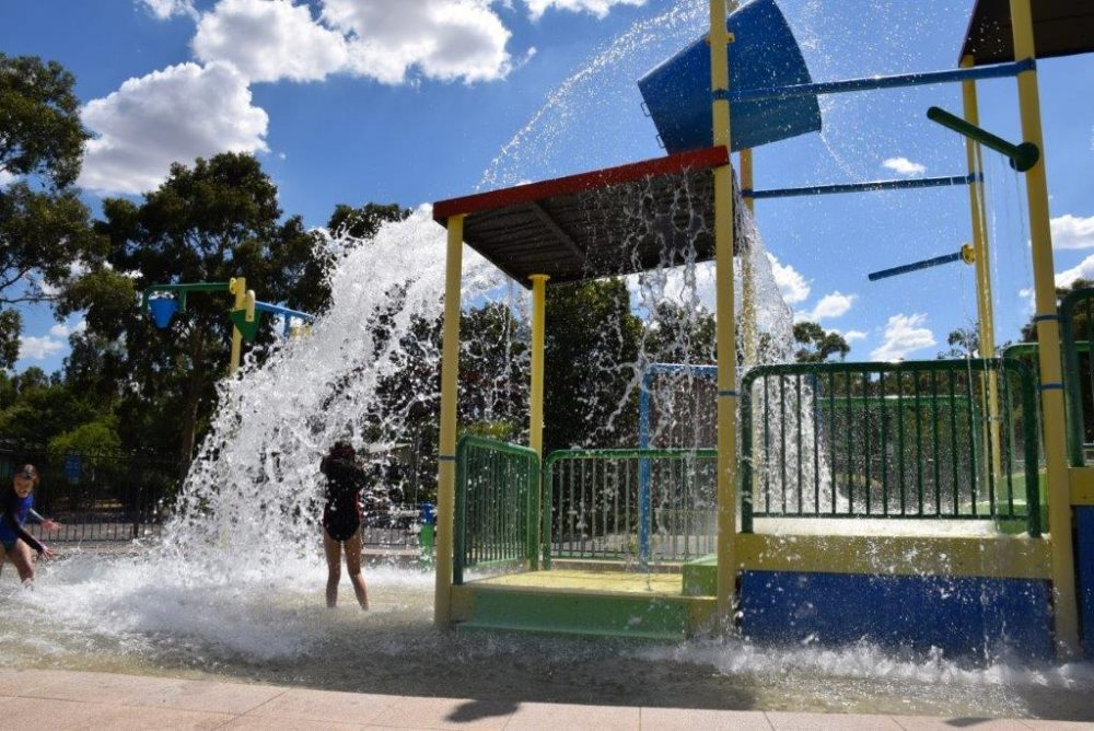 The Dubbo Big 4 Parklands water-play park was lots of fun