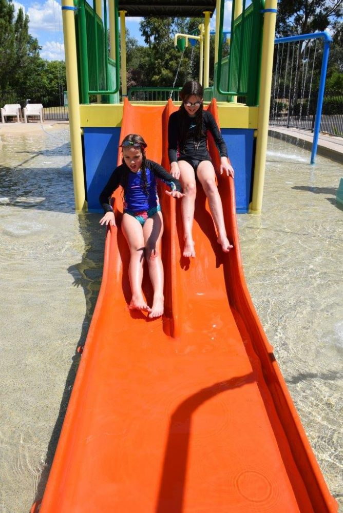 Discovery Park Dubbo has great-fun water play slides