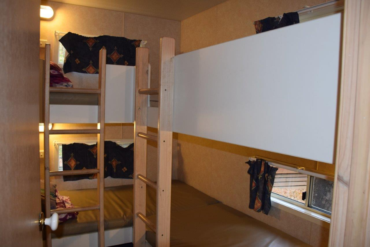 The second bedroom had four solid bunk-beds