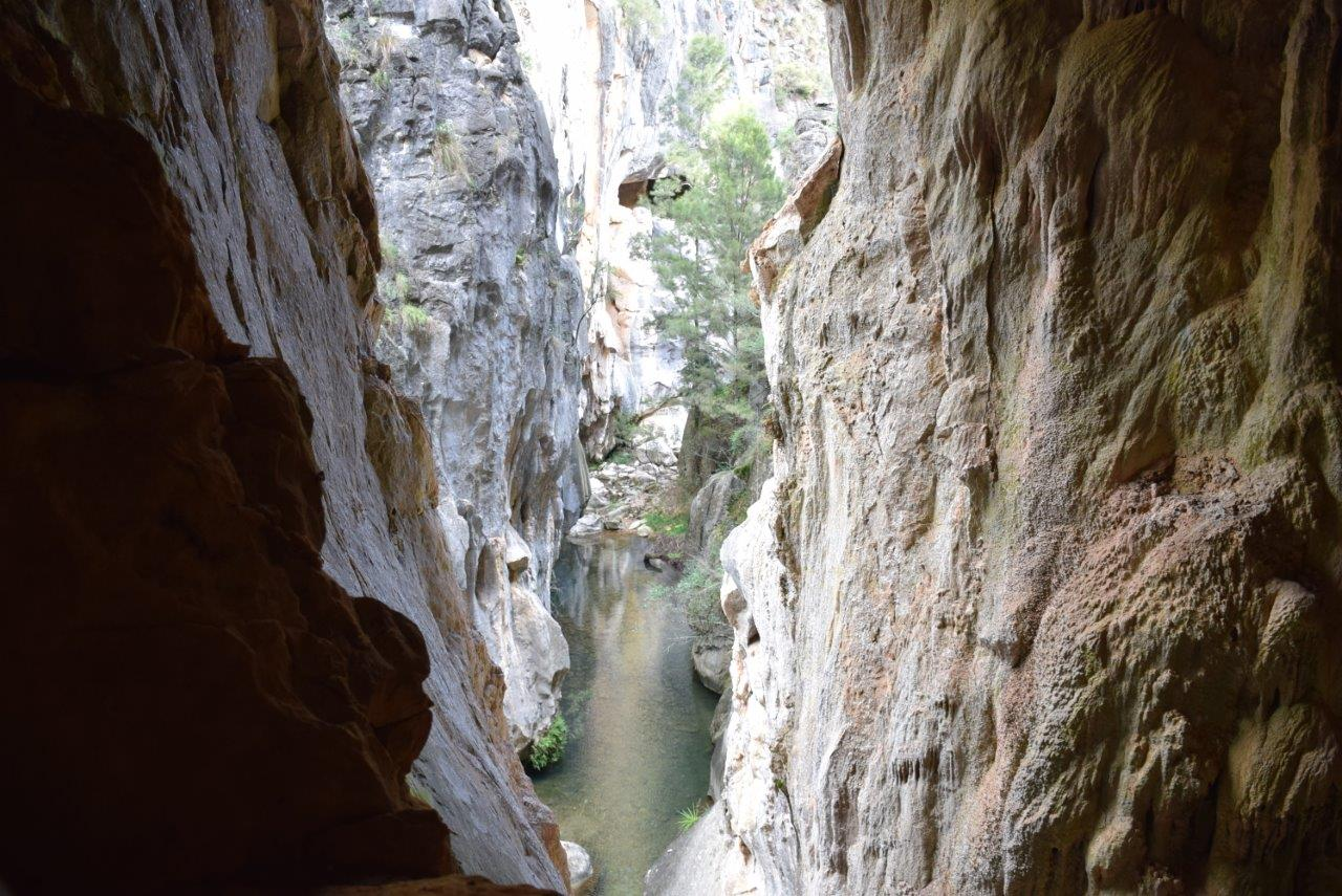 A tempting peek of the Marble Canyon from the Tinted Cave