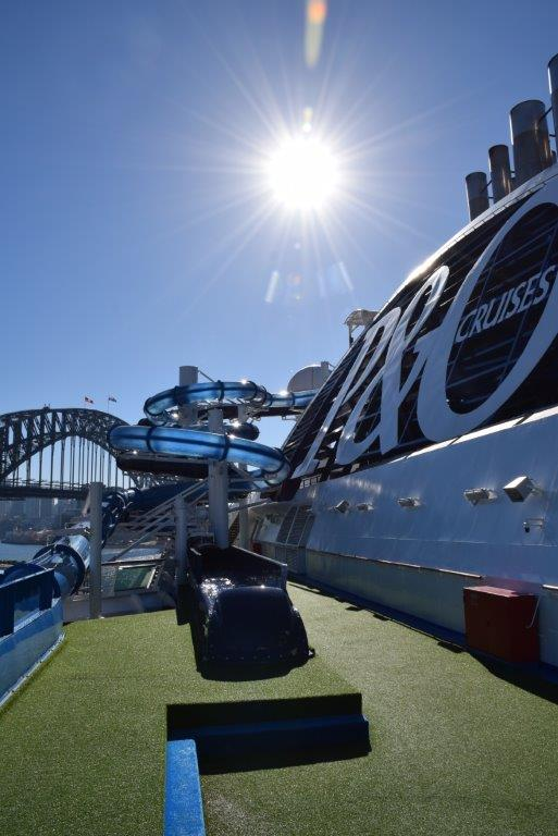 Take a look around the brand new P&O Pacific Explorer cruise ship here at Sydney Harbour!