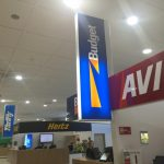 Avis and Budget hire cars at Coolangatta airport are located back-to-back