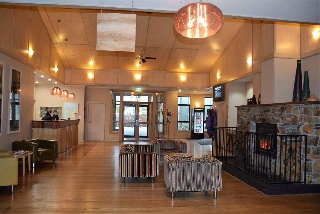 Cradle Mountain Hotel lobby