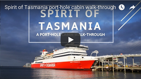 Go to the Spirit of Tasmania accommodaton walk-through video