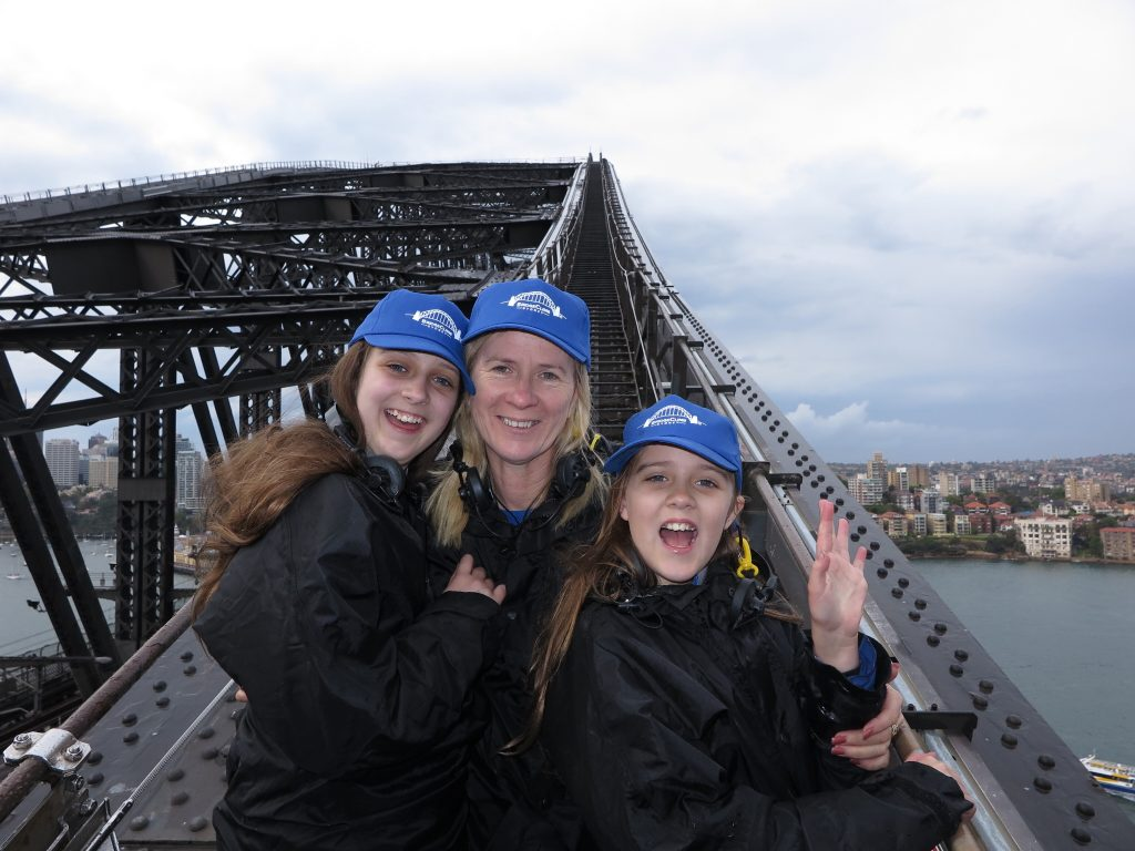 Ready to climb the arch of the Sydney Harbour Bridge