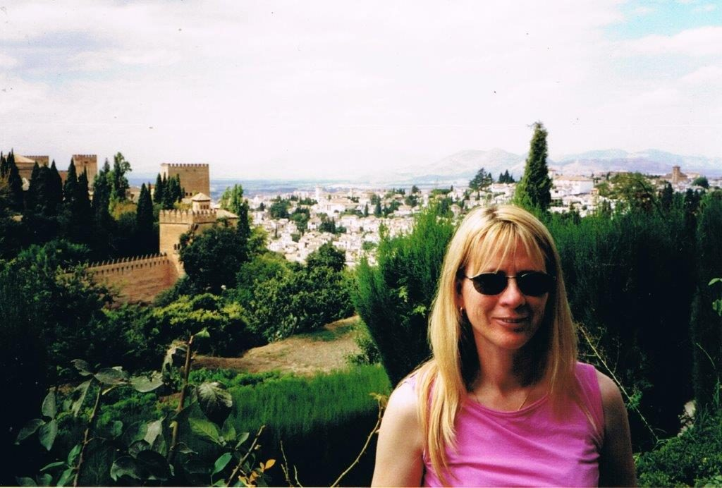 At the Alhambra palace in Granada, Spain in 2002