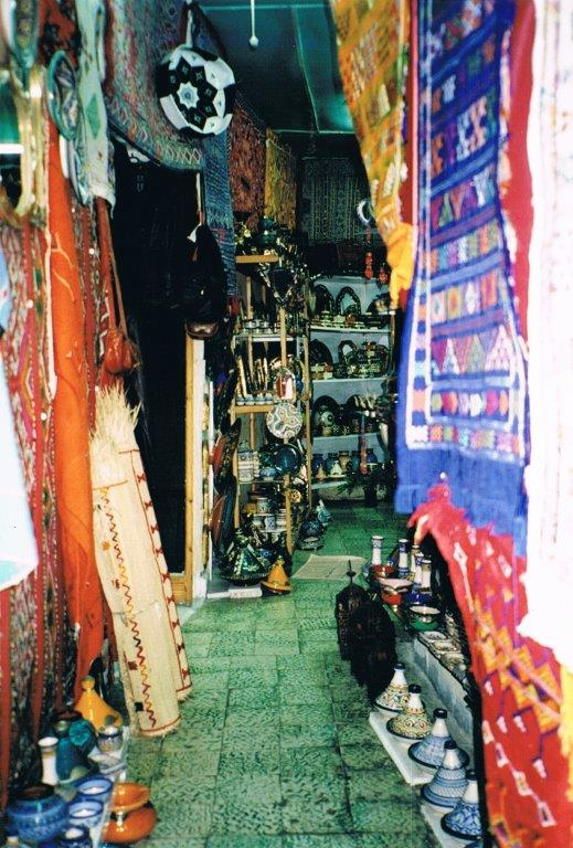 A tiny ceramics shop in Tangier