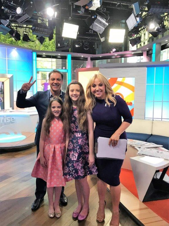 Weekend Sunrise TV interview - Our travel blog family was interviewed by Channel 7 network's Weekend Sunrise