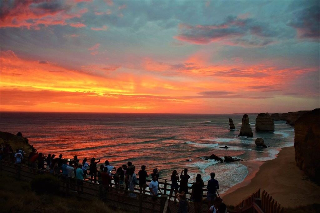 The 12 Apostles, Great Ocean Road, Victoria at sunset
