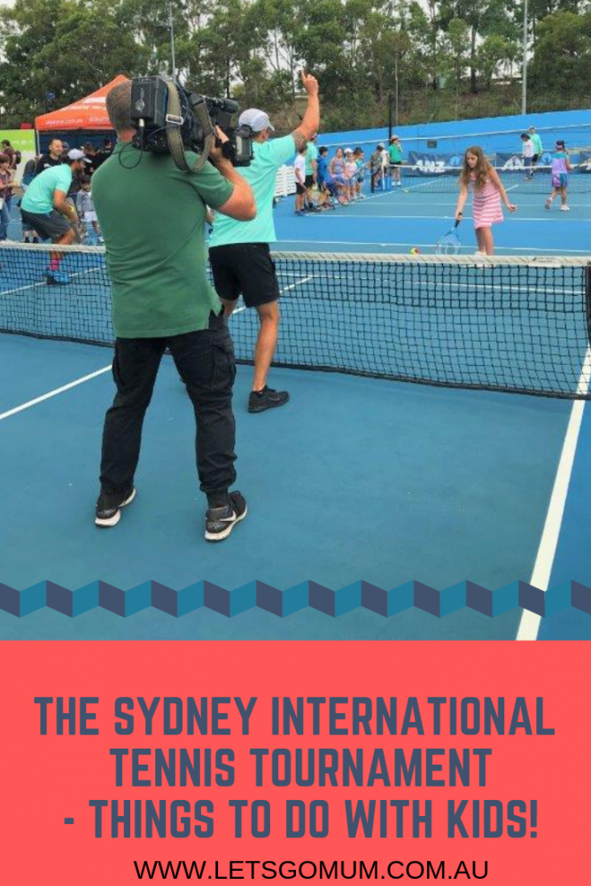 The Let's go Mum family were invited to spend the day at the Sydney International - there was food, fun - and a surprise encounter on Centre Court with tennis star Lleyton Hewitt!