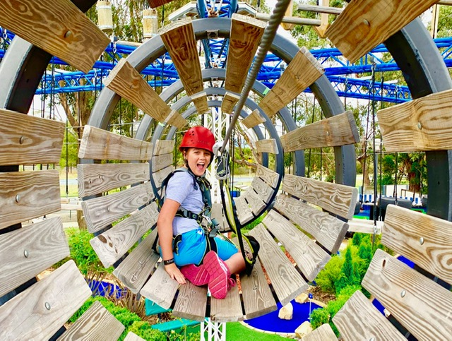 Traralgon Park Lane's high ropes course