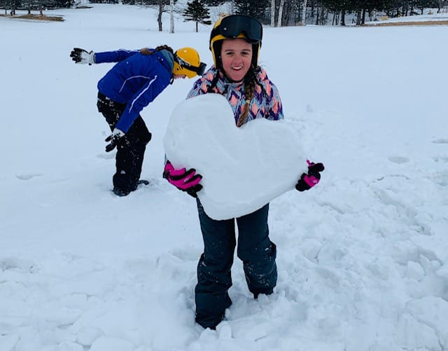 The driver carved this giant heart out of the snow!
