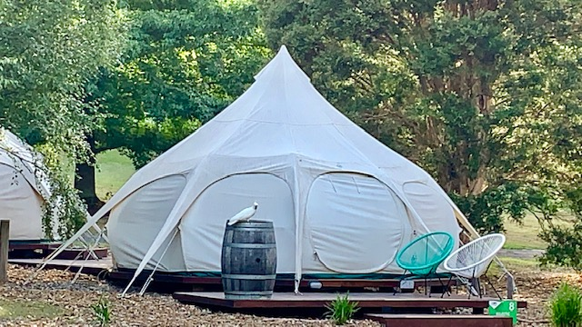 Our family glamping tents were a beautiful and fun accommodation option