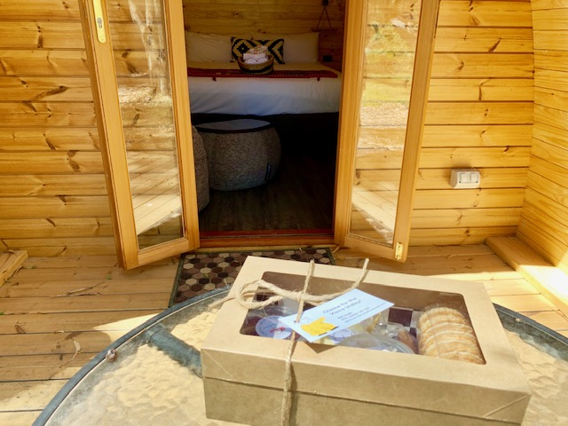 Pods make great weekenders - you can even include a local gourmet cheese pack