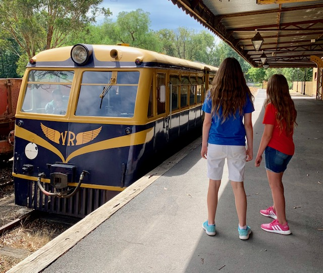 The Yarra Valley Railway runs short, picturesque trips on Sundays