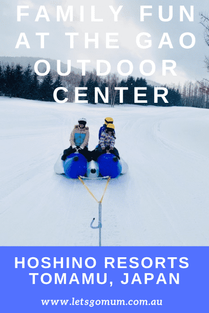 The Gao Outdoor Centre in Tomamu has everything you need for a fun family holiday in the snow, including snow mobiles, banana rides and much more!