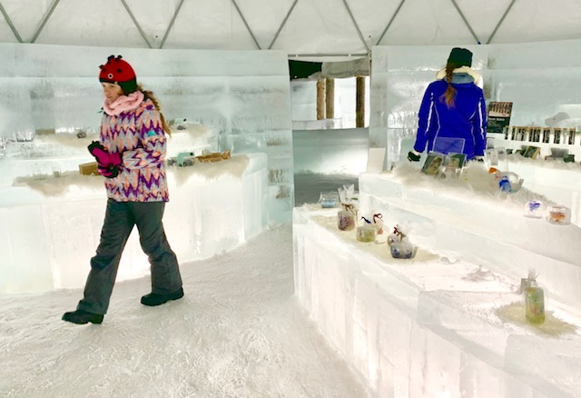 Take a stroll through the Ice Village shops