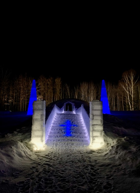 The amazing Ice Village Ice Chapel