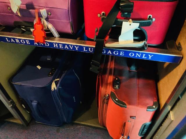 NSW TrainLink suitcase storage