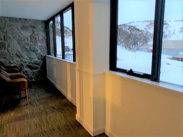 Our Matterhorn Ski Lodge private verandah