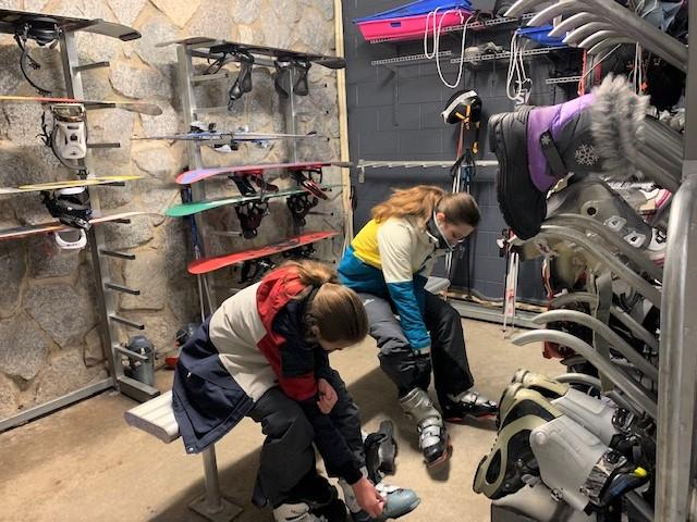 Our Matterhorn Ski Lodge drying room