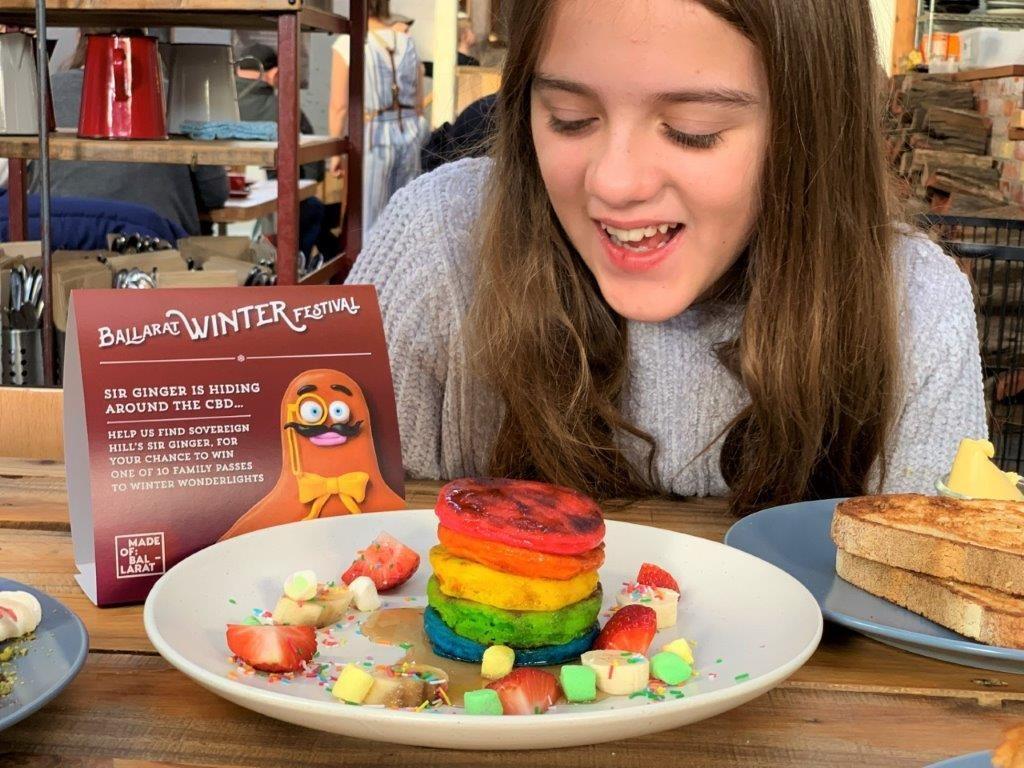 Ballarat rainbow pancakes