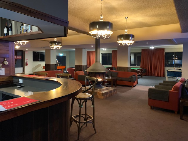 The guest lounge, bar and games room.