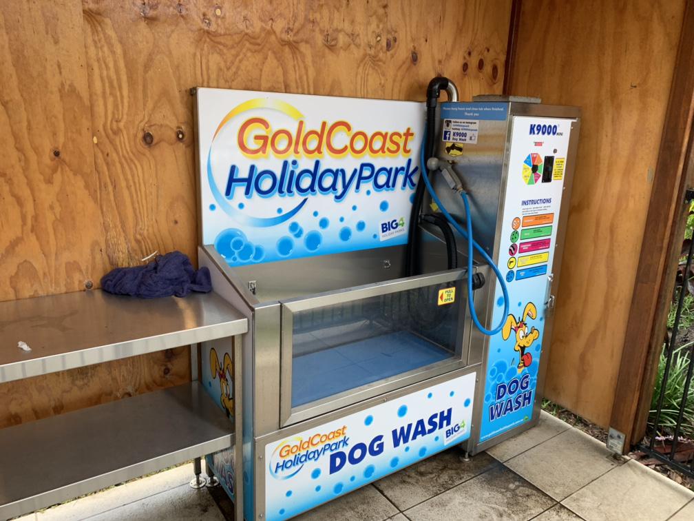 Gold Coast dog wash at BIG4 Holiday Park
