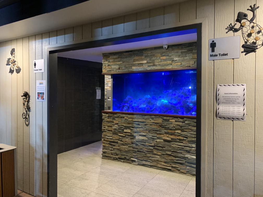 Amenities block aquarium at BIG4 Gold Coast