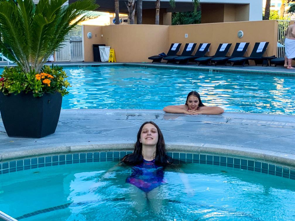 Anaheim Marriott Suites pool and spa