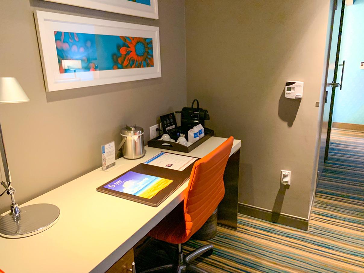 Shore Hotel suite desk