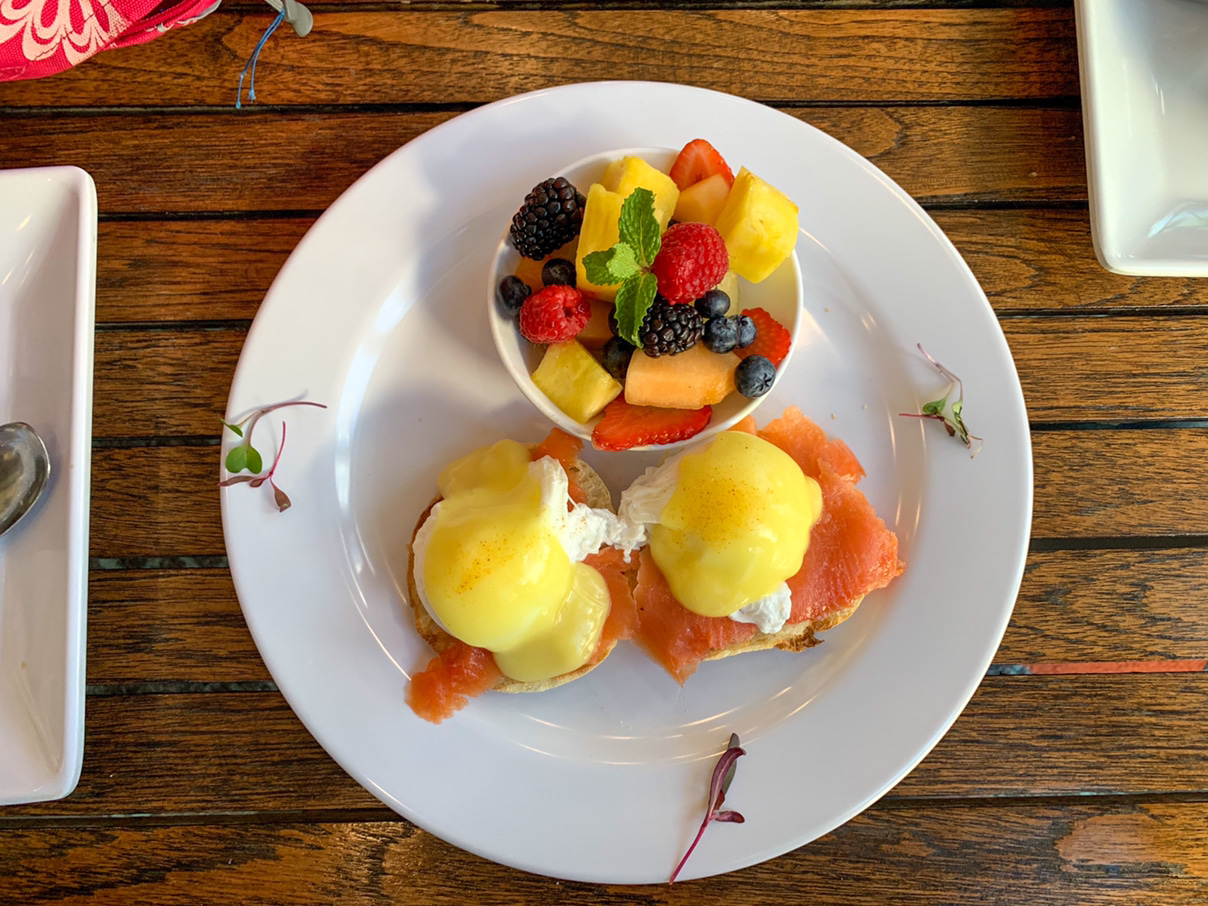 Shore Hotel Eggs Benedict with smoked salmon