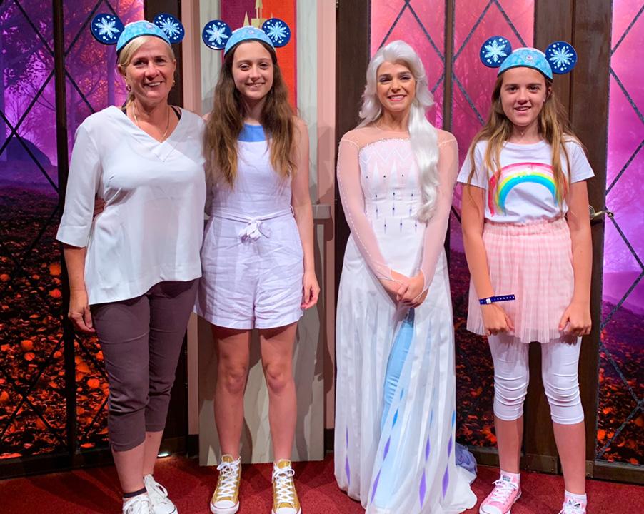 California Adventure Elsa's Frozen welcome