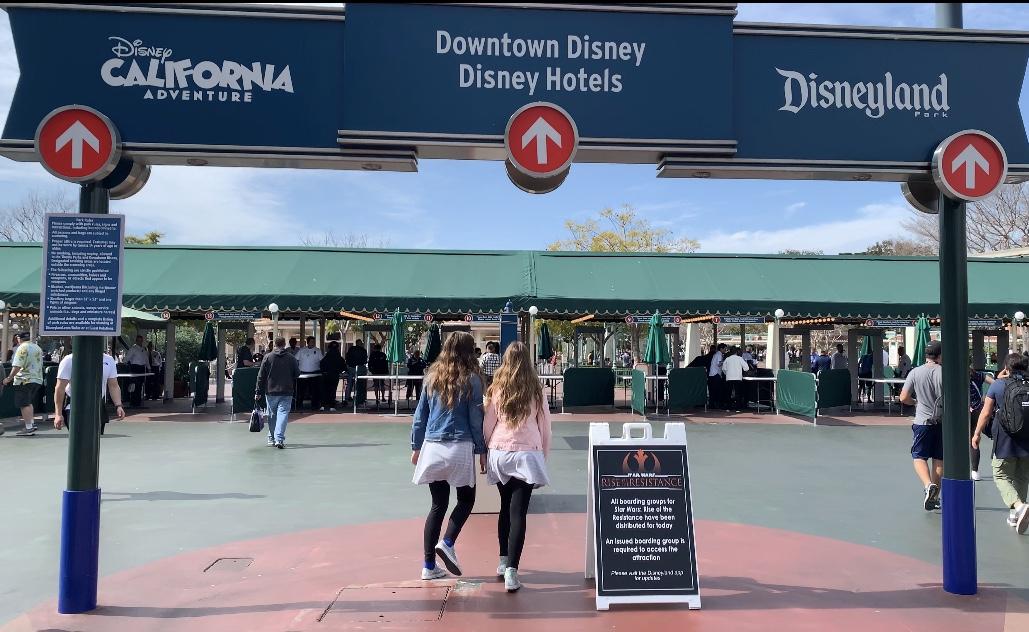 Entering Disneyland California