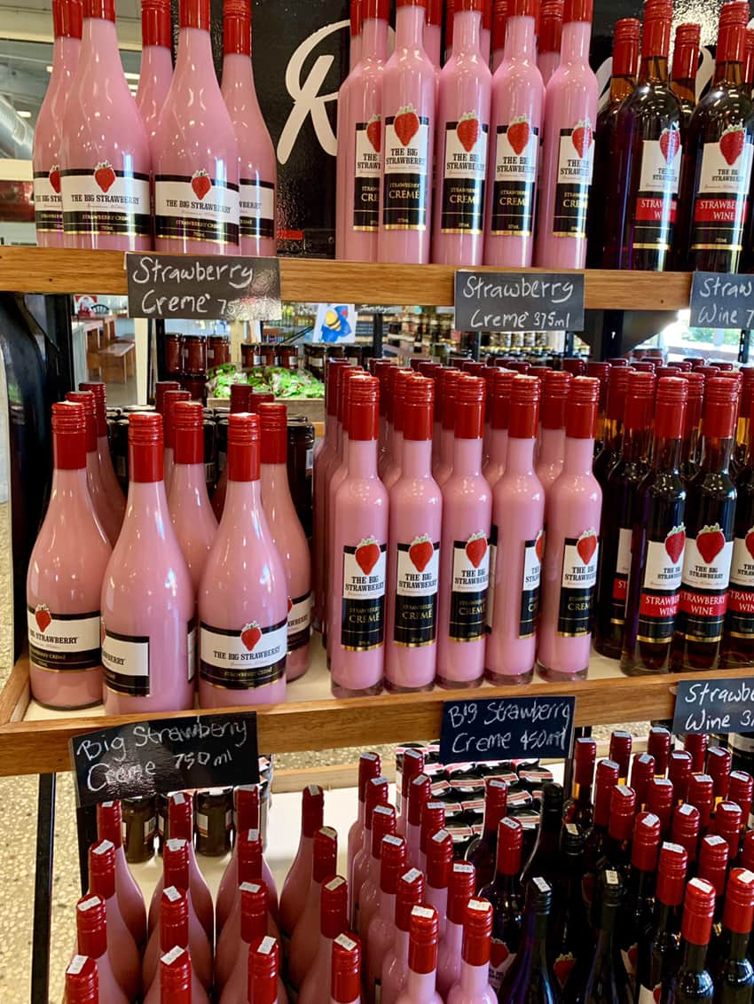 The Big Strawberry wines and creams