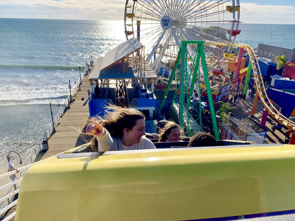 Pacific Park fun fair on Santa Monica Pier
