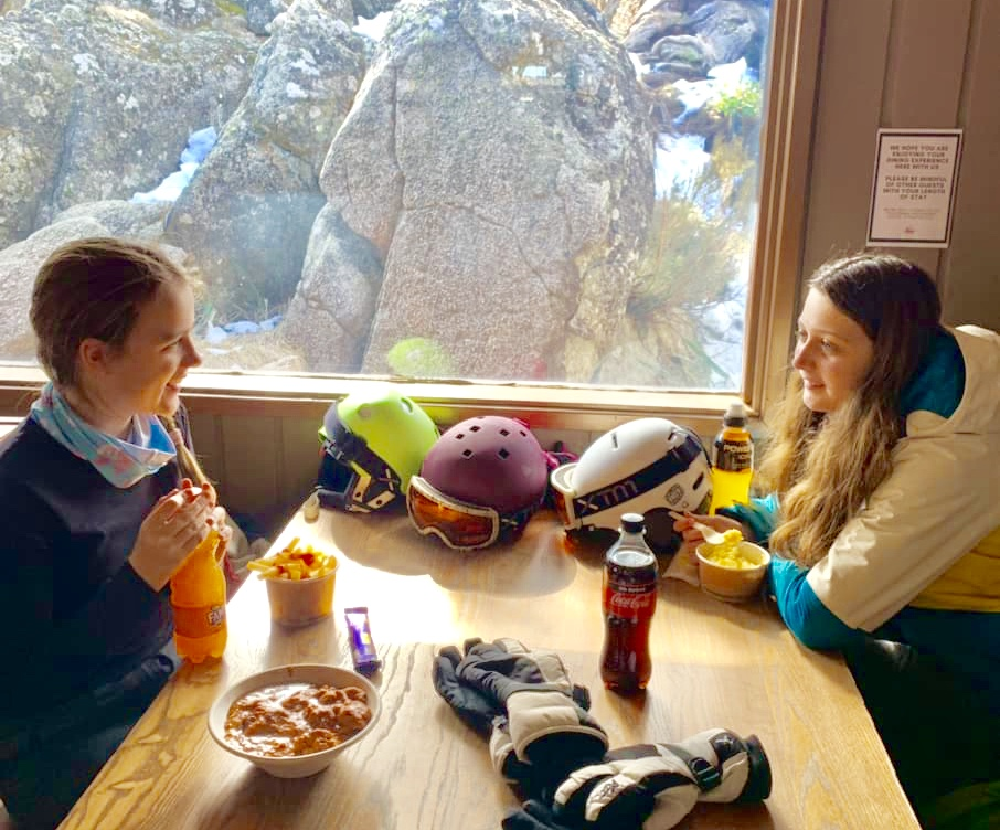 This Merritts Restaurant at Thredbo requires a meal purchase to eat inside