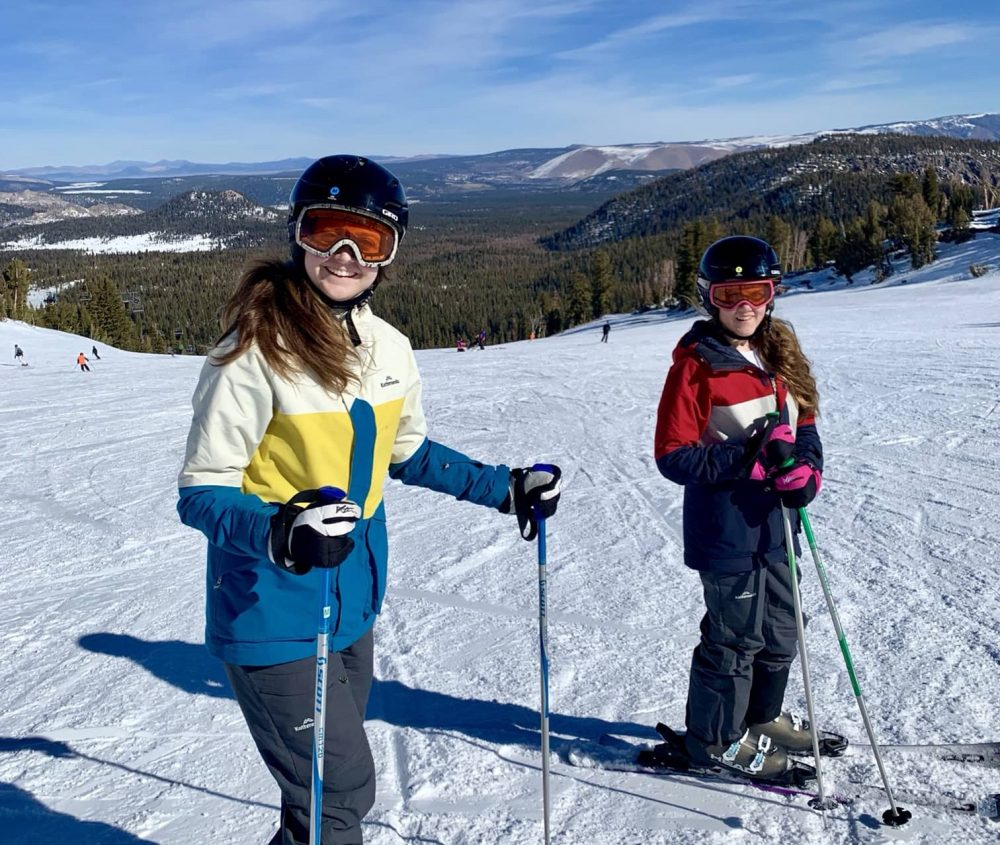 Family skiing and snowboarding fun at Mammoth