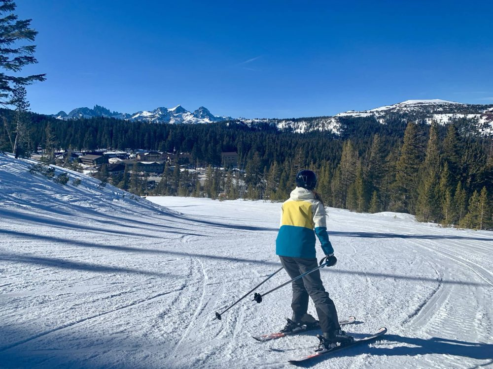 Mammoth Mountain ski trail
