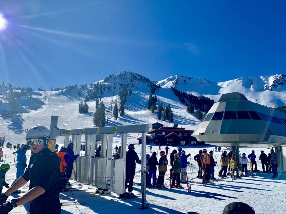 Mammoth Mountain lift queues are fast and friendly