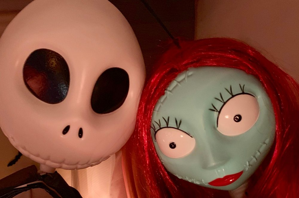 Jack Skellington and Sally from a Nightmare Before Christmas