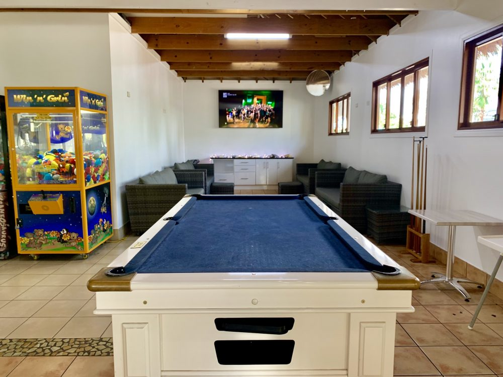 There's a games room off the Bistro with a pool table