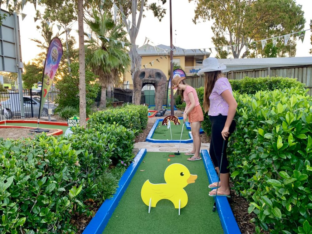 Mini Golf is hilarious at times, and anyone can play!