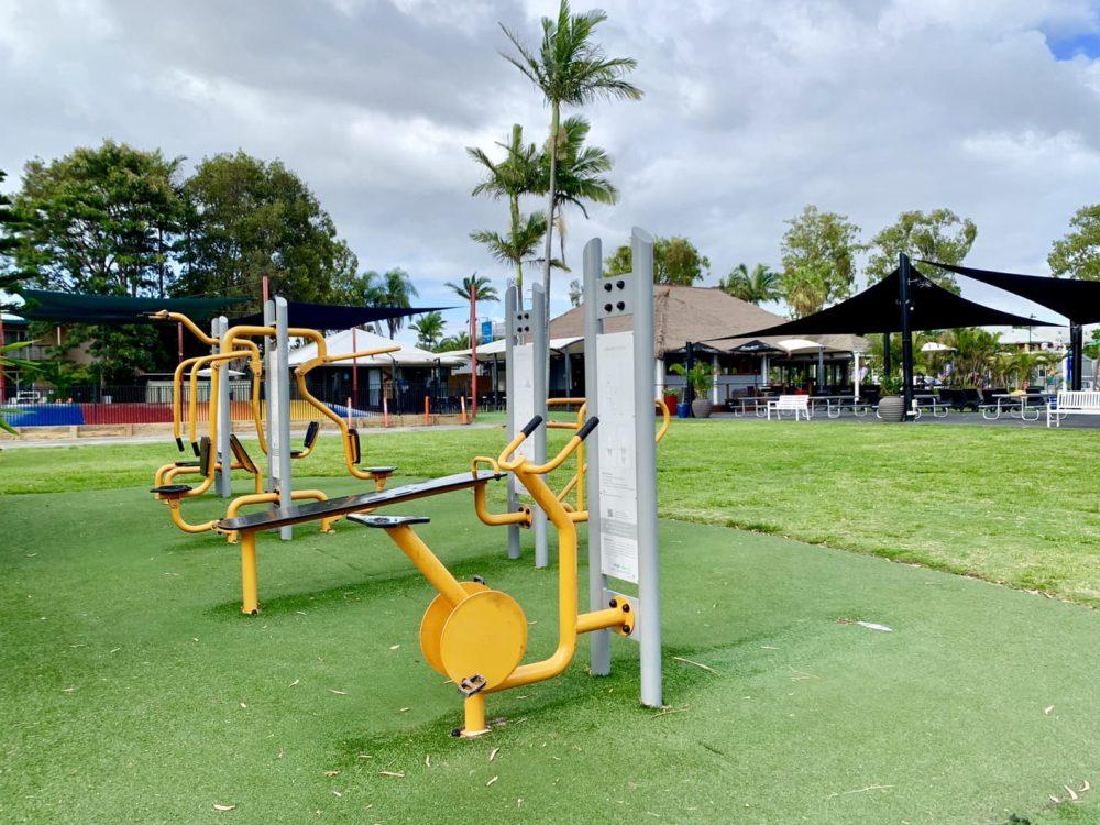 Treasure Island has an outdoor gym