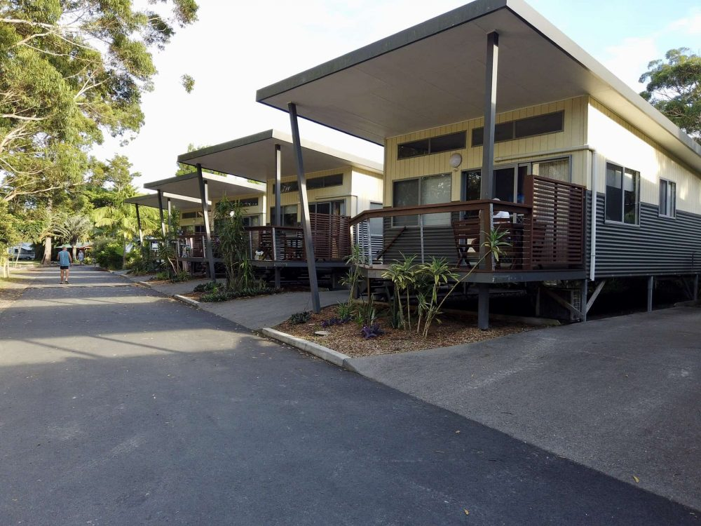 There are lots of different villas and cabins available