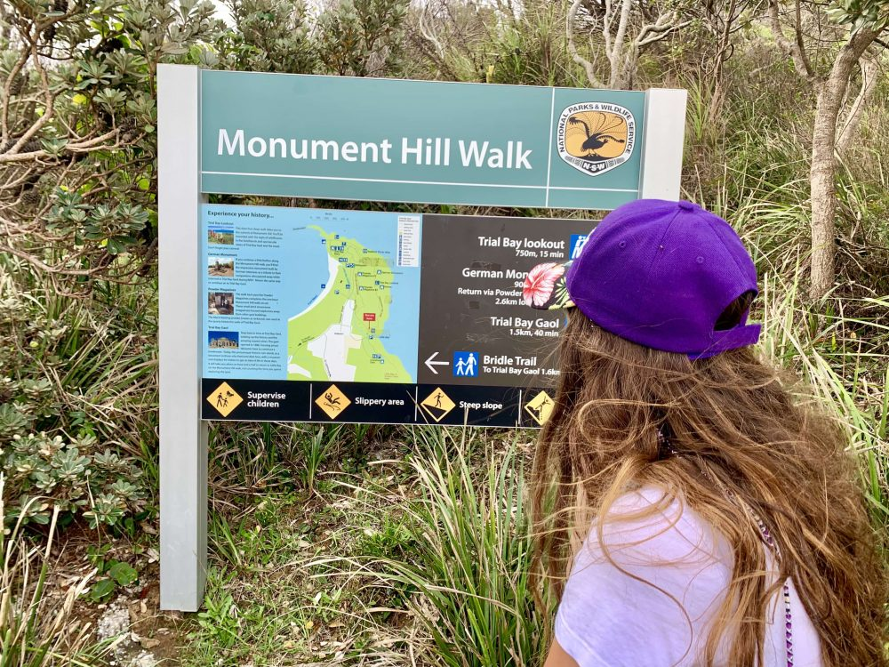 The Monument Hill Walk is a 3km coastal trail with amazing views